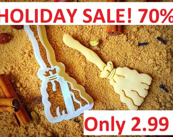 Halloween Witches Broom cookie cutter