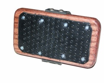 Oak Curry Brush Hand Paddle with Rubber Spikes