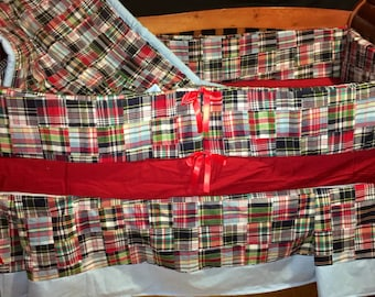 CLEARANCE***Patchwork Plaid 4 piece crib set Ready to Ship!!!