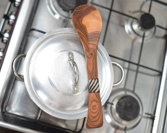 Olive wood decorative spoon, wooden cooking spoon, Kitchenware, cooking tools, handmade wooden spoon.