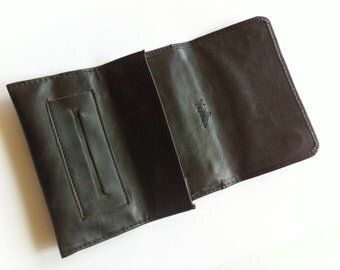 Black Tobacco Pouch, gift idea, vegan pouch for tobacco, purse for tobacco, tobacco case, gift for him, festival accessories, cigarette case