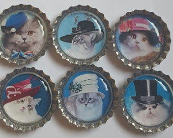 Cat Magnets cat gifts cat lover gifts cats cute cat magnet Set of Four