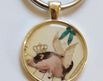 Pig Keychain Pig Lover Gift