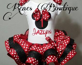 Minnie Mouse Ribbon Tutu Set