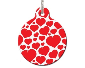 Floating Hearts Pet ID Tag | FREE Personalization