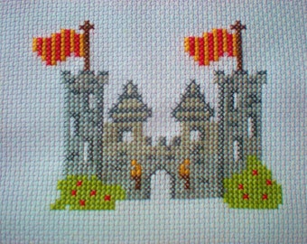Castle/Fort Counted Cross Stitch Kit Boys Soldiers Medieval