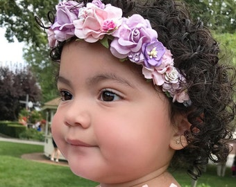 The Pink and Lavender Butterfly Goddess Floral Crown