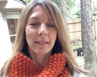 Knitted Cowl, Chunky Knit Cowl, Infinity Scarf, Fall, Winter apparel, oversized Cowl, Ladies scarf, Circle scarf