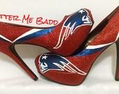 New England Patriots Glitter Heel