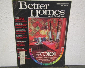 vintage  May 1973 BETTER HOMES and GARDENS magazine