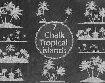 Chalk Tropical Islands