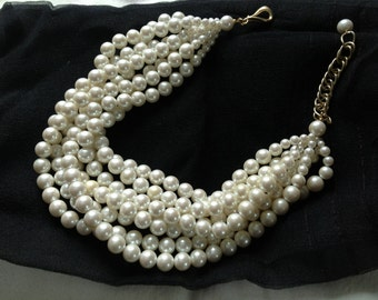 Luxe Multiple Strand Pearl Necklace