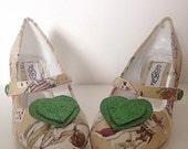Alice in wonderland, bridal shoes, wedding shoes, customised shoes, felt corsage, custom made, ladies shoes, high heel, mid heel, size 3-8