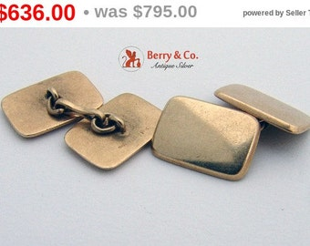 SaLe! sALe! Vintage 14 K Yellow Gold Cufflinks Shreve and Co 1920