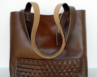 Brown Leather Tote Bag ,    Leather Bag ,    Brown Leather Bag , RWOODB