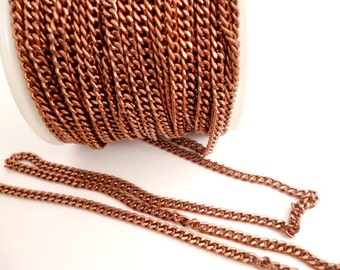 Copper Tone Chain_PA356465445NYA_OF 0/2 IN_of 3 mm_ supply_ Chains_Sales by yards