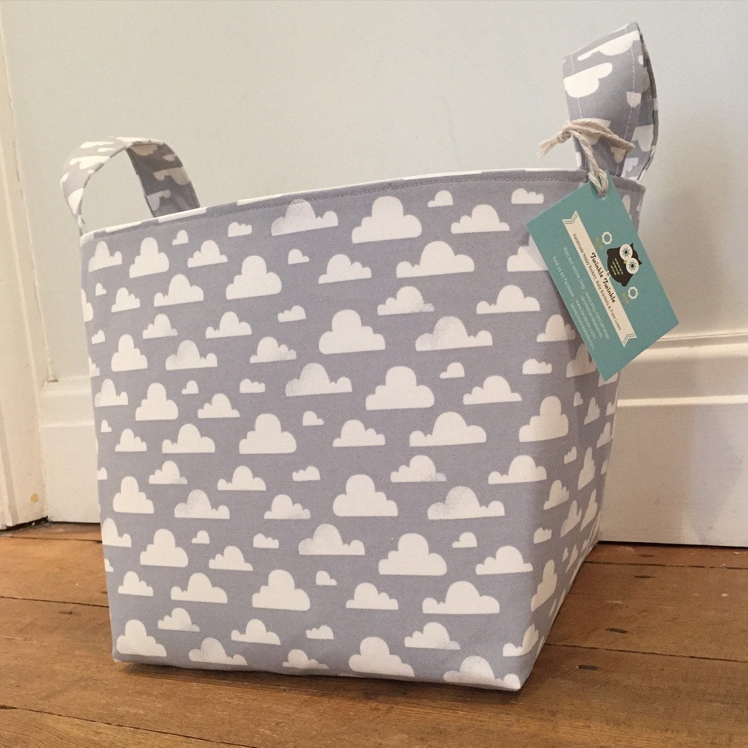 Pitter Patter Fabric Basket Nappy Basket Diaper Caddy