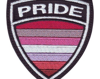 Lesbian Gay Pride Crest Flag Embroidered Patch