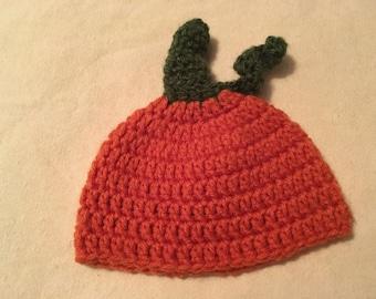 Pumpkin newborn hat/ photo prop
