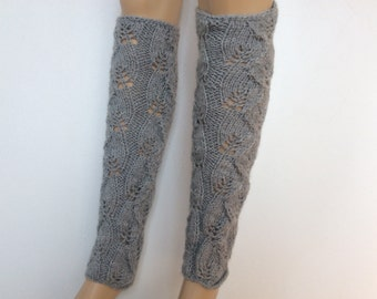 Knit Legwarmers, Leg Warmers,  Leg warmers boot womens leg warmers  Grey Color or Select Color