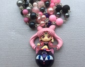 Black/Wicked Lady // Sailor Moon // Beaded Necklace