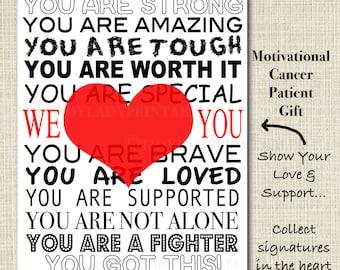 Inspirational Cancer Patient Gift, Hospital Room Decor, Motivational Cancer Sign, Cancer Survivor Chemo Encouragement Gift, Sick Friend Gift