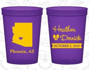 Arizona Wedding Cups, Arizona Stadium Cups, Arizona Plastic Cups, Arizona Cups, Arizona Party Cups (102)