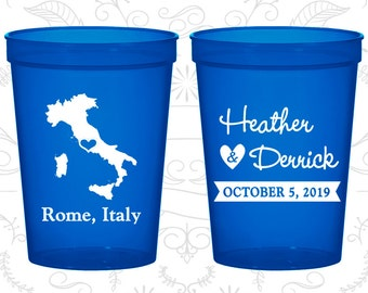Italy Wedding Cups, Italy Stadium Cups, Italy Plastic Cups, Italy Cups, Italy Party Cups (181)
