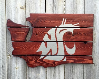 Recycled Pallet Washington State Cougars