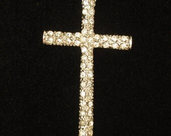 Reversible Rhinestone Cross Pendant