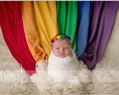 Dainty Rainbow Baby Flower Headband