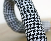 Handlebar Tape- Houndstooth Cotton Wrapped Gel Cork