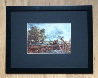"""Framed and Mounted The Leaping Horse Print by John Constable 16"""" x 12"""""""