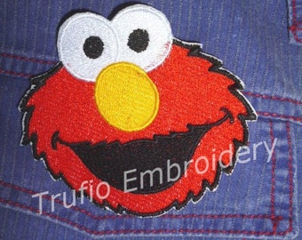 Elmo iron-on patch
