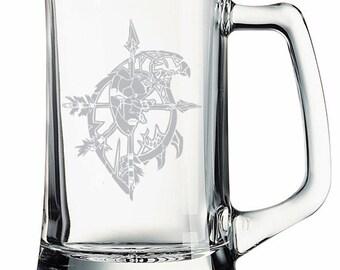 World of Warcraft Forsaken Crest Etched Mug Glass