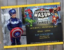 Superhero Squad Invite - Digital File - PRINT IT YOURSELF