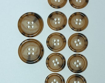 Tan & Brown Suit Button Set