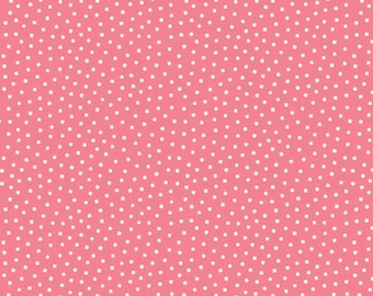 "Riley Blake Designs - ""Paper Dolls Bakery"" - #C4355 PINK - Dots."