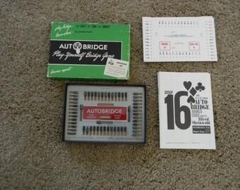 Vintage Autobridge Play Yourself Bridge Game Advanced Set