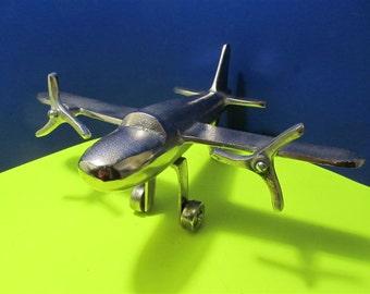 NEW Metal Vintage Style Airplane Collectible Figurine Aluminum Art Deco