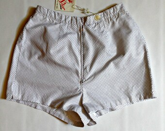 Vintage 50s shorts | polka dot hot pants | Dead stock cotton shorts