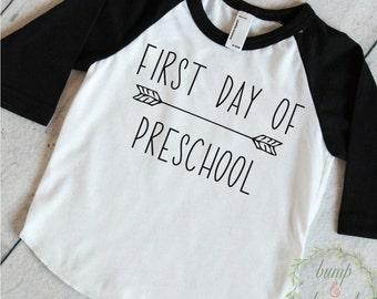 Presschool Shirt, First Day of Preschool Shirt, Boys Back to School Outfit, 1st Day of Preschool Outfit 264