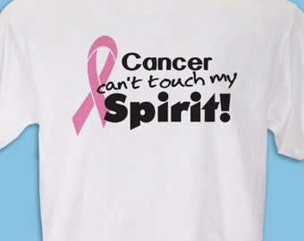 Personalized Pink Ribbon Breast Cancer Awareness T-Shirt