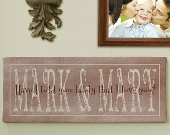 Personalized I Love You Wall Art