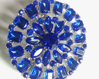Royal Blue Crystal Hair Jewelry