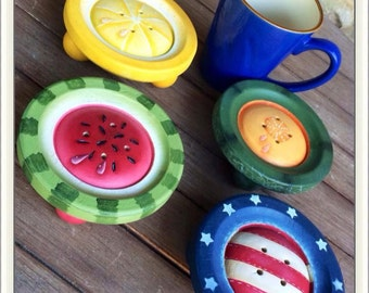SUMMER BUTTONS COASTERS