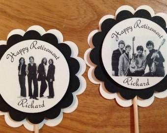 The Beatles party CUSTOM cupcake toppers birthday retirement thank you PERSONALIZED