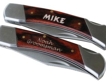 Engraved Pocket Knife, Groomsmen Gift Knife, Personalized Knife, Custom Knives, Lock Back Knife, Custom Pocket Knife, Groomsmen Knife Gifts
