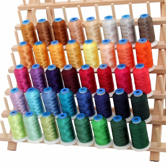 Rayon machine embroidery thread set b big m cones