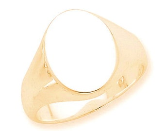 Oval Solid Back Signet Ring (JC-1113)